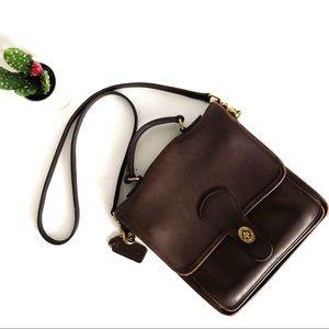 COACH|Vintage Leather Willis Messenger Bag Brown